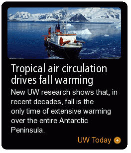 Tropical air circulation drives fall warming