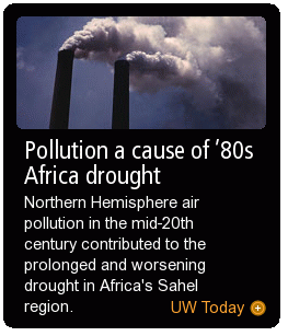 Pollution a cause of '80s Africa drought