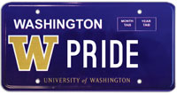 Husky license plate