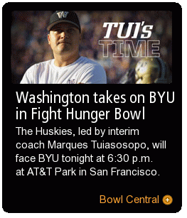 Washington to play BYU in Fight Hunger Bowl
