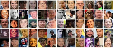 facial recognition collage