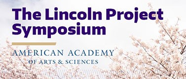 Lincoln Project Symposium title with cherry blossoms