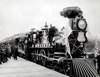 a history of transcontinental railroads Railroad definition,  to transport by means of a railroad to supply with railroads  word origin and history for railroad n 1757, from rail.