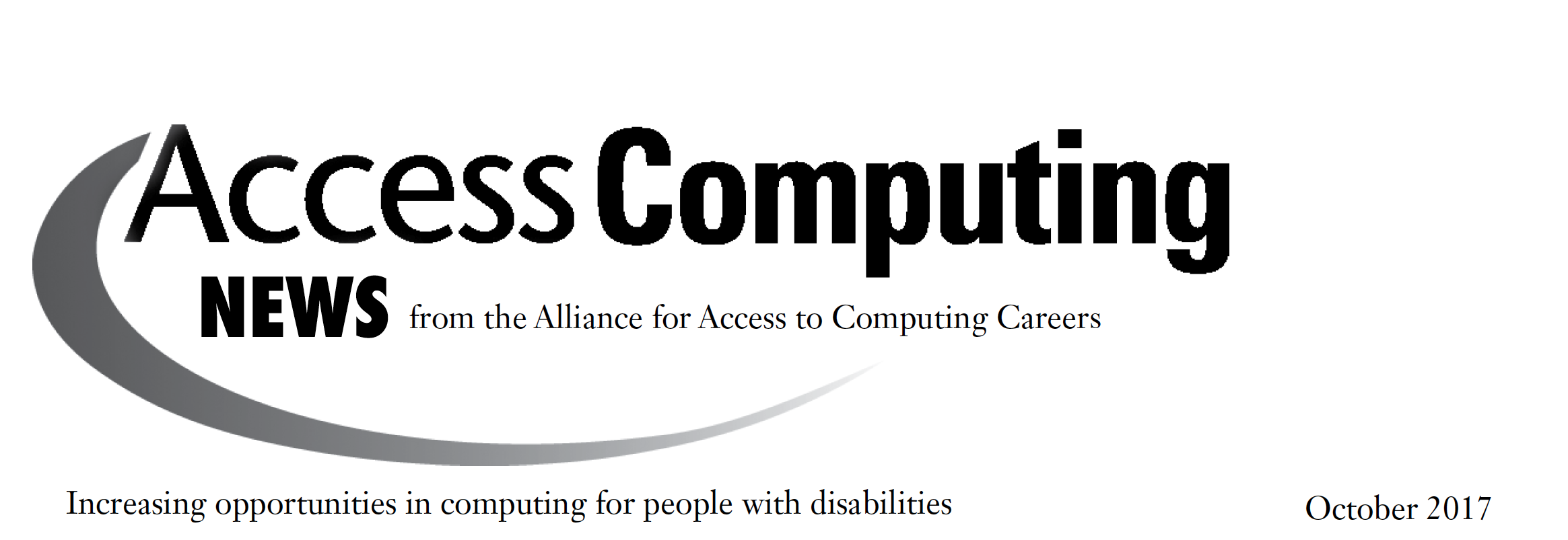 AccessComputing News October 2017 Header.