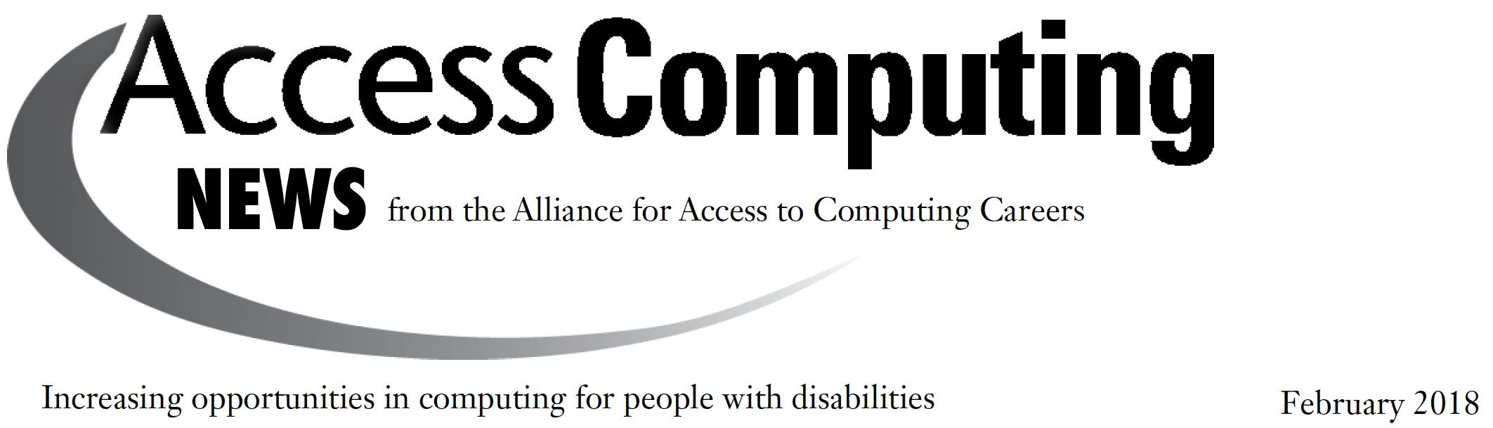 AccessComputing News Feb 2018 Header.