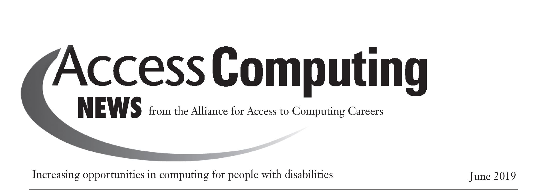 AccessComputing News June 2019 Header
