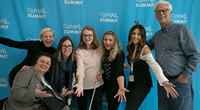 Participants from the 2018 CSforAll Summit pose for the camera.