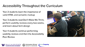 Slide from Andy Ko on Accessibility Throughout the Curriculum