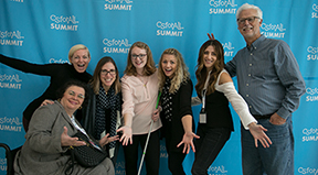 Richard Ladner and others from the CSforALL Summit in 2018.