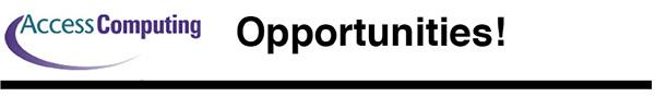 AccessComputing Opportunities Logo