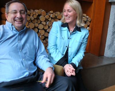 Two CBI participants smile