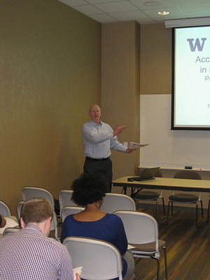 Terry Thompson giving a presentation