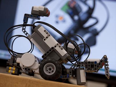 Image of a robot from DRobotz summer camp.