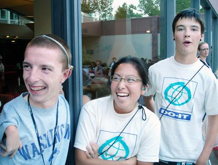 Group image of DO-IT participants enjoying a laugh during Summer Study.