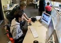 still image from video Finding Gold showing DO-IT Scholars using assistive technology