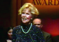 still image from video Golden Apple showing DO-IT Director Sheryl Burgstahler giving an acceptance speech for the Golden Apple Award