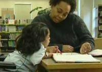 still image from video Taking Charge 2 showing DO-IT Scholar Jessie with instructor