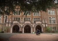 The outside of Mary Gates Hall.