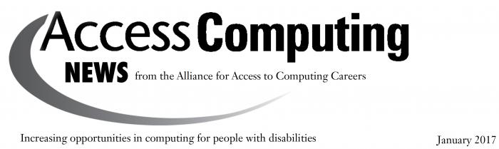 AccessComputing News January 2017 Heading.