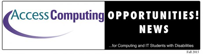 Header for AccessComputing Opportunities! News