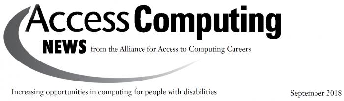 AccessComputing News - September 2018