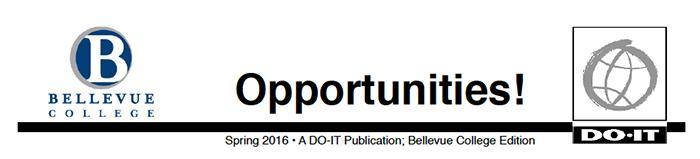 Header for Bellevue Opportunities Newsletter