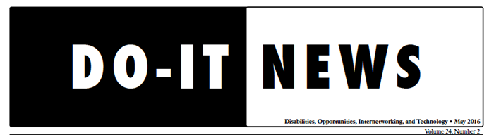Banner for DO-IT News May 2016