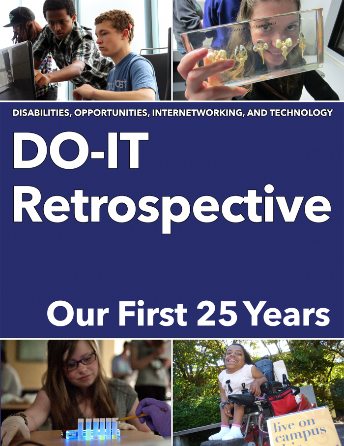 The cover of the DO-IT Retrospective: Our First 25 Years