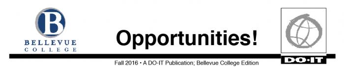 Opportunities News Bellevue College Fall 2016 Header.