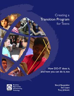 Creating a Transition for Teens cover page