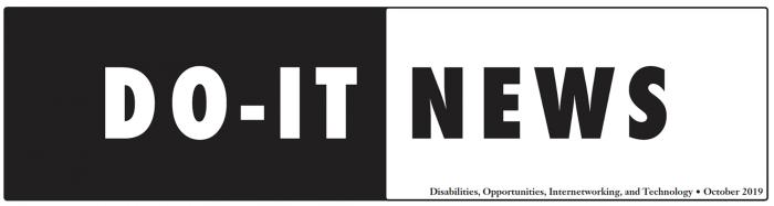DO-IT News October 2019 Banner