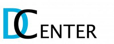 A logo saying 'D Center' with the D, in blue, overlapping with the C, in black.