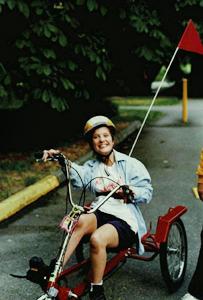 Picture of Jorja on her bike