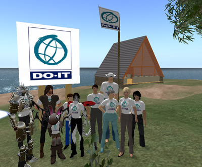 Screen Shot of a group photo of particpants' avatars.