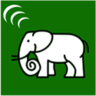 An example of a block with an icon of an elephant.