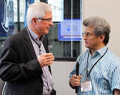 Two participants chat.