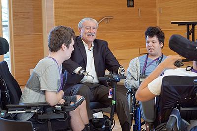 John Kemp mentors students with disabilities.