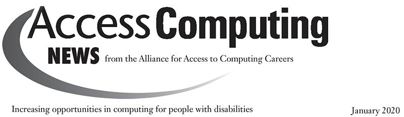 AccessComputing header - January 2020