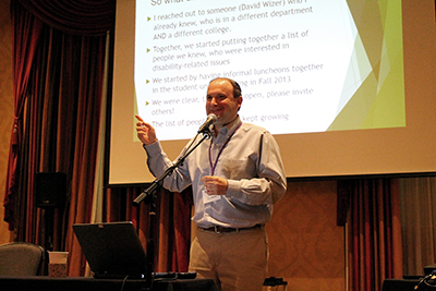 Jonathan Lazar presents on Building a Cross-Campus Coalition Related to Disability.