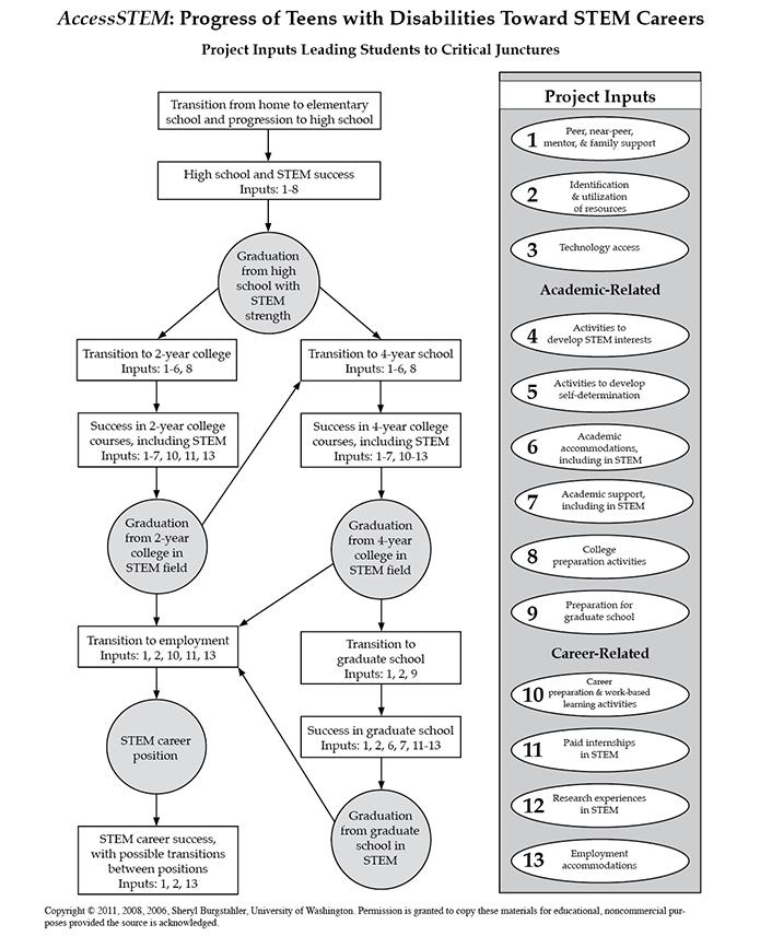 AccessSTEM Critical Junctures Chart