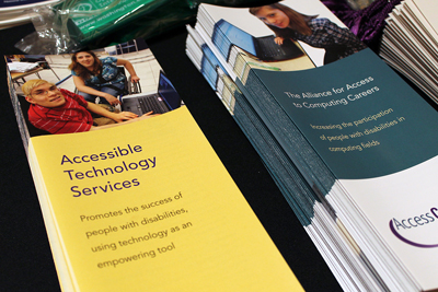 The Accessible Technology Services brochure, along with others.