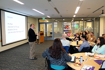 Phil Reid addresses accessibility issues at the 2016 Accessible IT at the UW CBI.