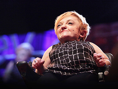 Stella Young at her TED Talk.