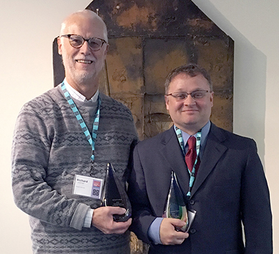 Richard Ladner and Andreas Stefik with their awards.