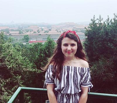 Rochelle in Beijing.