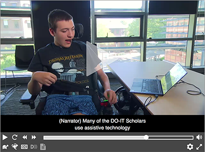 "Video still from DO-IT's new video, ""DO-IT Scholars Discuss the Importance of College."""