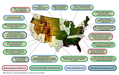 A map of all the ERCs in the country.