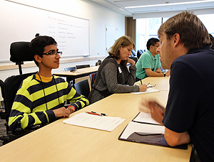 Image of a student interview