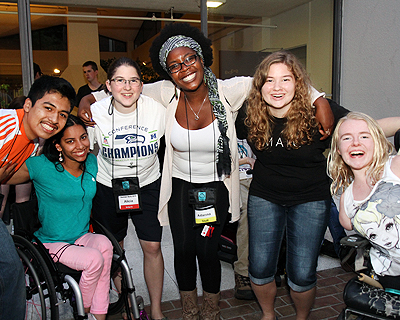 Students of different ability, race, and gender smiling together at Summer Study.