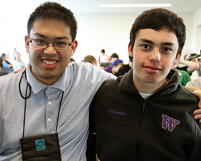 Image of two students smiling